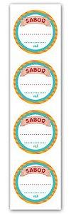 Etiqueta Adesiva Sabor 6322 c/ 20 un. Miss Embalagens - Rizzo Embalagens