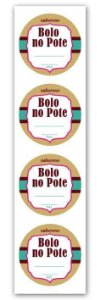 Etiqueta Adesiva Bolo no Pote Marrom Cod. 5509 c/ 20 un. Miss Embalagens - Rizzo Embalagens