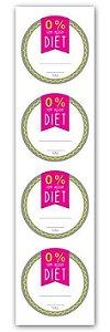 Etiqueta Adesiva Diet Cod. 6278 c/ 20 un. Miss Embalagens - Rizzo Embalagens
