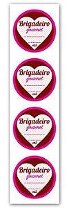 Etiqueta Adesiva Brigadeiro Gourmet Coração Cod. 6360 c/ 20 un. Miss Embalagens - Rizzo Embalagens