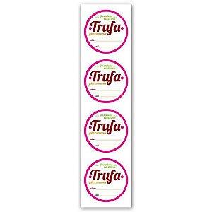 Etiqueta Adesiva Trufa Cod. 4847 - 20 unidades - Miss Embalagens - Rizzo Embalagens