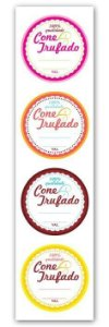 Etiqueta Adesiva Cone Trufado Color Cod. 6285 c/ 20 un. Miss Embalagens - Rizzo Embalagens