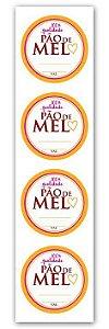 Etiqueta Adesiva Pão de Mel Cod. 4854 c/ 20 un. Miss Embalagens - Rizzo Embalagens