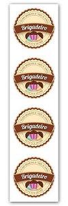 Etiqueta Adesiva Brigadeiro Cod. 6537 - 20 unidades - Miss Embalagens - Rizzo Embalagens
