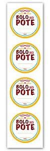 Etiqueta Adesiva Bolo no Pote Amarelo Cod. 4700 c/ 20 un. Miss Embalagens - Rizzo Embalagens