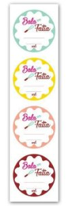 Etiqueta Adesiva Bolo em Fatia Cod. 6315 c/ 20 un. Miss Embalagens - Rizzo Embalagens