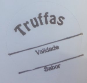 Etiqueta Truffas validade e sabor - 100 unidades - Massai - Rizzo Embalagens