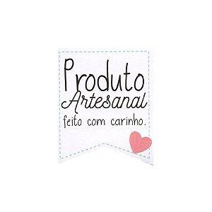 Etiqueta Adesiva Produto Artesanal Feito com carinho Cod. 148 c/ 20 un. Papieri - Rizzo Embalagens
