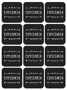 Etiqueta Adesiva Lousa Especiaria - LitoArte - 12 unidades - Rizzo Embalagens