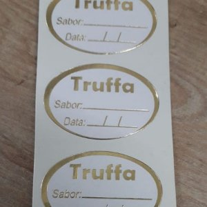 Etiqueta Truffa Sabor e Data - 100 unidades - Decorart - Rizzo Embalagens