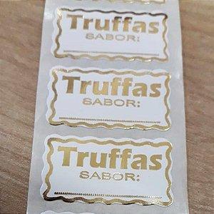 Etiqueta Truffa Sabor - 100 unidades - Decorart - Rizzo Embalagens