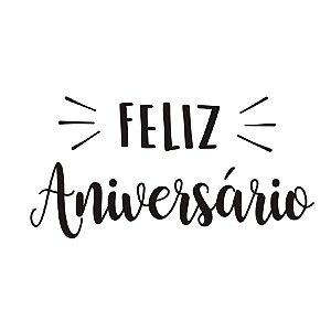 "Transfer Para Balão G Feliz Aniversário - 20"" a 36"" - Cromus Balloons - Rizzo Festa"