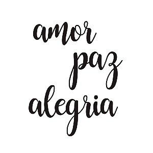 """Transfer Para Balão G Amor Paz Alegria - 20"""" a 36"""" - Cromus Balloons - Rizzo Festa"""