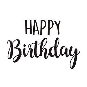 Transfer Para Balão P - Happy Birthday - Cromus Balloons - Rizzo Festa