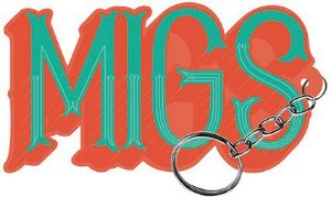 Chaveiro Decorativo MDF Migs -  LitoArte - Rizzo Embalagens