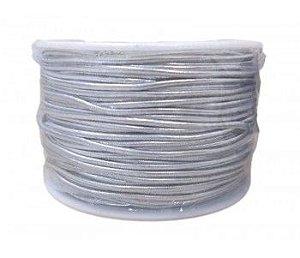 Cordão Prata Elástico 50 metros - Merita - Rizzo Embalagens