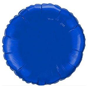Balão Metalizado Redondo Liso 20'' 50cm - Azul - Flexmetal - Rizzo Embalagens e Festas