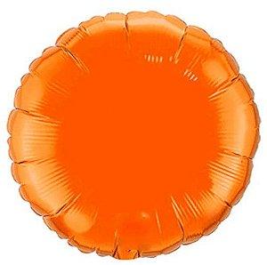 Balão Metalizado Redondo Liso 20'' 50cm - Laranja - Flexmetal - Rizzo Embalagens e Festas