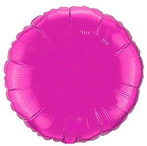 Balão Metalizado Redondo Liso 20'' 50cm - Pink - Flexmetal - Rizzo Embalagens e Festas