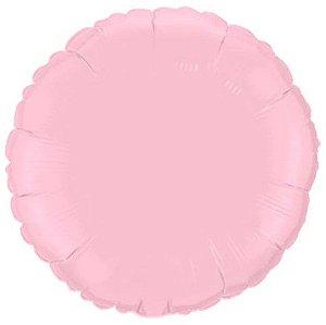 Balão Metalizado Redondo Liso 20'' 50cm - Rosa Baby - Flexmetal - Rizzo Embalagens e Festas