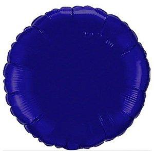 Balão Metalizado Redondo Liso 20'' 50cm - Azul Marinho - Flexmetal - Rizzo Embalagens e Festas