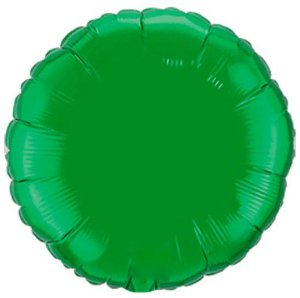 Balão Metalizado Redondo Liso 20'' 50cm - Verde - Flexmetal - Rizzo Embalagens e Festas