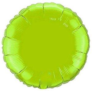 Balão Metalizado Redondo Liso 20'' 50cm - Verde Limão - Flexmetal - Rizzo Embalagens e Festas