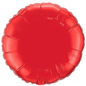 Balão Metalizado Redondo Liso 20'' 50cm - Vermelho - Flexmetal - Rizzo Embalagens e Festas
