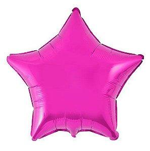Balão Metalizado Estrela Liso 20'' 50cm - Pink - Flexmetal - Rizzo Embalagens e Festas