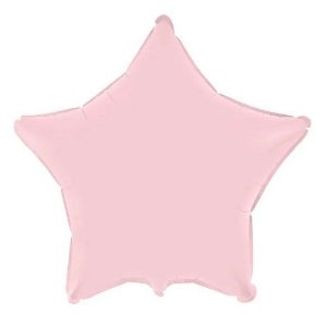 Balão Metalizado Estrela Liso 20'' 50cm - Rosa Baby - Flexmetal - Rizzo Embalagens e Festas