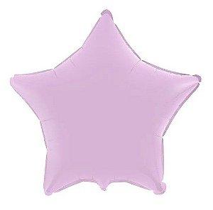 Balão Metalizado Estrela Liso 20'' 50cm - Lilás Baby - Flexmetal - Rizzo Embalagens e Festas