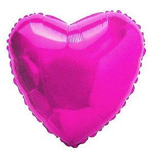 Balão Metalizado Coração Liso 20'' 50cm - Pink - Flexmetal - Rizzo Embalagens e FCoras