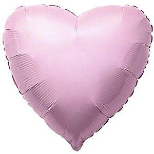 Balão Metalizado Coração Liso 20'' 50cm - Rosa Baby - Flexmetal - Rizzo Embalagens e FCoras