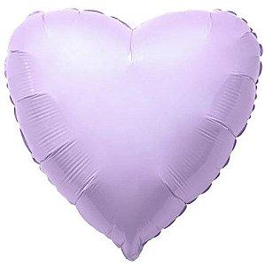 Balão Metalizado Coração Liso 20'' 50cm - Lilás Baby - Flexmetal - Rizzo Embalagens e FCoras