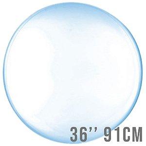 Balão Bubble Clear Azul 36'' 91cm - Cromus - Rizzo Embalagens e Festas