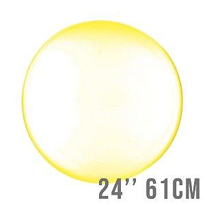 Balão Bubble Clear Amarelo 24'' 61cm - Cromus - Rizzo Embalagens e Festas