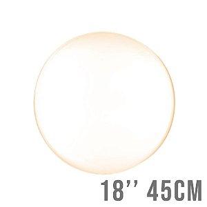 Balão Bubble Clear Laranja 18'' 45cm - Cromus - Rizzo Embalagens e Festas
