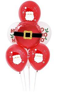 Kit Bouquet de Balões HOHOHO - Sempertex Cromus - Rizzo Festas