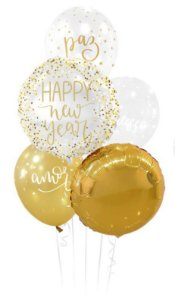 Kit Bouquet de Balões Desejos de Ano Novo - Sempertex Cromus - Rizzo Festas