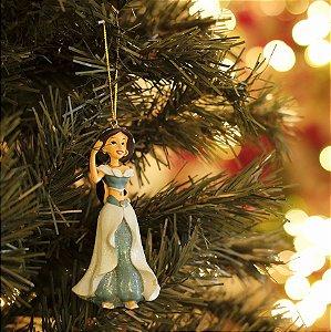 Enfeite para Pendurar Princesa Jasmine 10cm - 01 unidade - Natal Disney - Cromus - Rizzo Embalagens