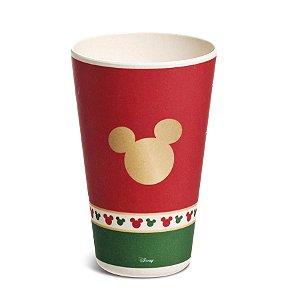 Copo Fibra de Bambu 400ml Silhueta Mickey Classic - 01 unidade - Natal Disney - Cromus - Rizzo Embalagens