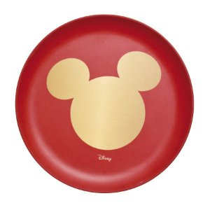 Prato Sobremesa Fibra de Bambu Silhueta Mickey Classic 20cm - 01 unidade - Natal Disney - Cromus - Rizzo Embalagens