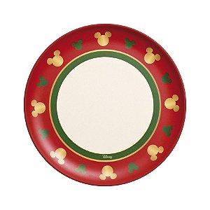 Prato Grande Fibra de Bambu Silhueta Mickey Classic 25cm - 01 unidade - Natal Disney - Cromus - Rizzo Embalagens