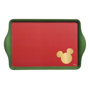 Bandeja Retangular Fibra de Bambu Silhueta Mickey Classic 35cm - 01 unidade - Natal Disney - Cromus - Rizzo Embalagens