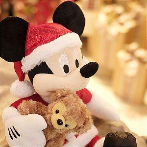 Mickey de Pelúcia e Urso 45cm - 01 unidade - Natal Disney - Cromus - Rizzo Embalagens