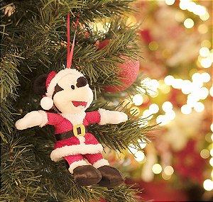 Mickey de Pelúcia Roupa Vermelha 15cm - 01 unidade - Natal Disney - Cromus - Rizzo Embalagens