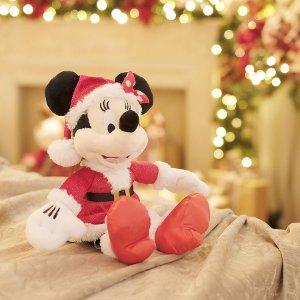 Mickey de Pelúcia Roupa Vermelha 35cm - 01 unidade - Natal Disney - Cromus - Rizzo Embalagens