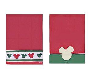 Pano de Copa Mickey e Minnie Composê Classic 70cm - 02 unidades - Natal Disney - Cromus - Rizzo Embalagens