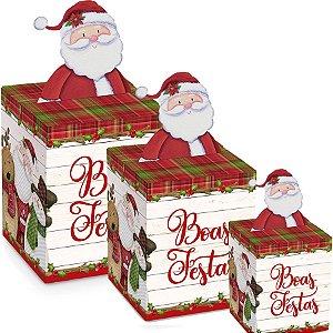 Caixa Panetone Pop Up Turminha de Natal - 10 unidades - Cromus Natal - Rizzo Embalagens