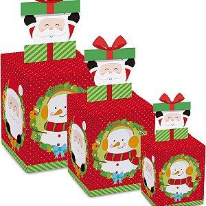 Caixa Panetone Pop Up Surpresa - 10 unidades - Cromus Natal - Rizzo Embalagens
